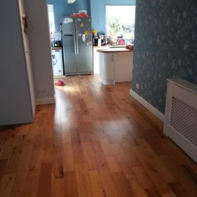 new flooring laid in kitchen